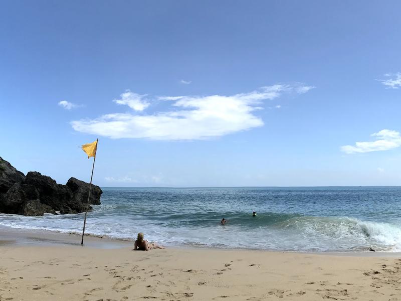 アヤナリゾートのプライベートビーチ