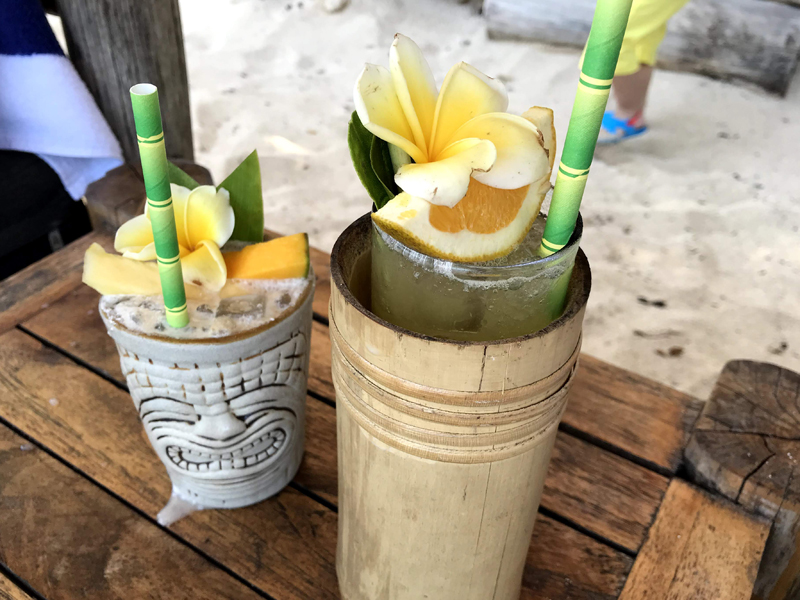 クブビーチのカクテル
