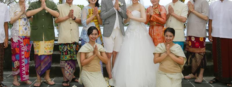 バリ島結婚式の親族・家族バリニーズ衣装
