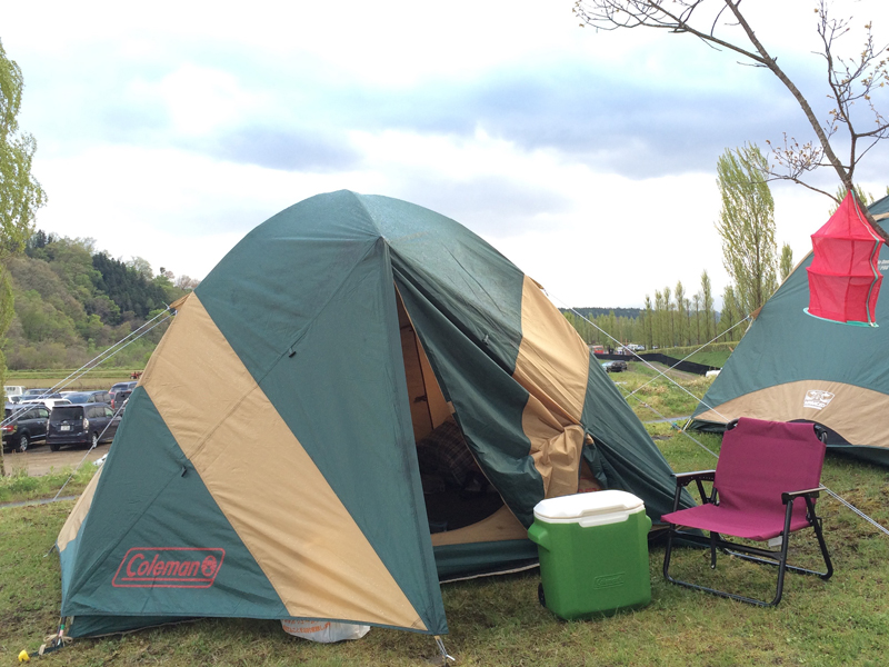 アラバキでレンタルしたコールマンのテント