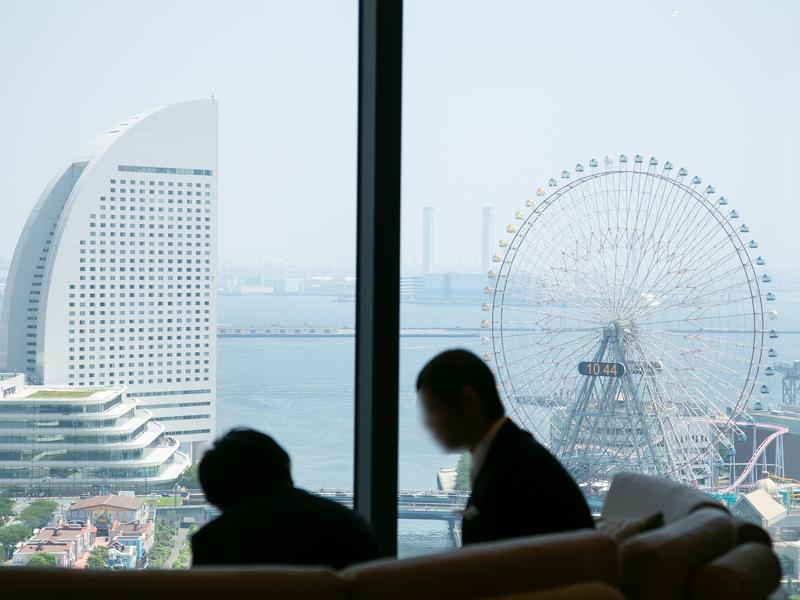 横浜モノリスから見えるみなとみらいの景色