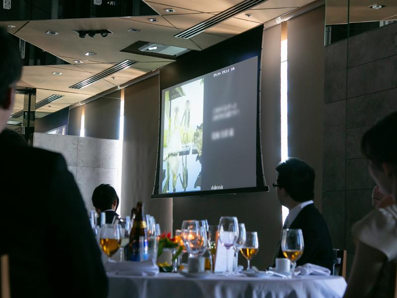 横浜モノリス結婚式のプロジェクター