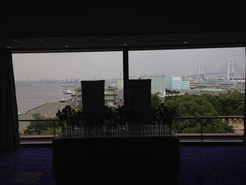 ホテルメルパルク横浜披露宴会場の景色