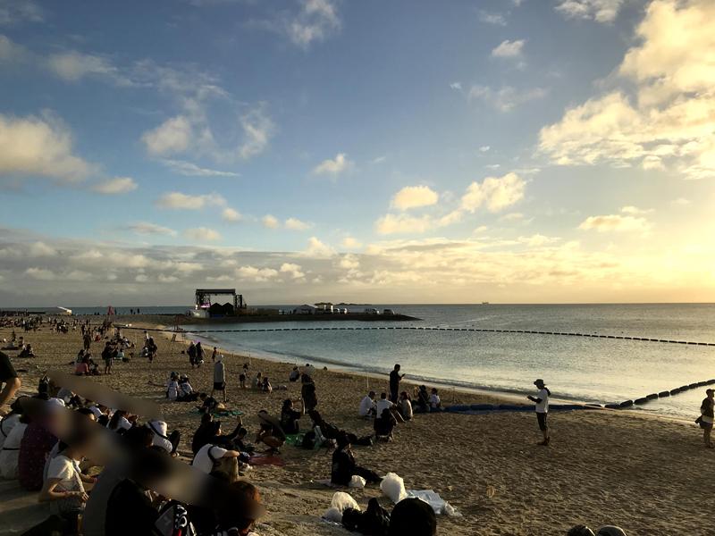 モンパチフェスのビーチ