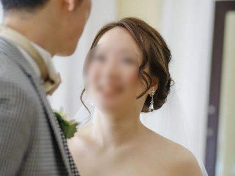 シニヨンの花嫁髪型