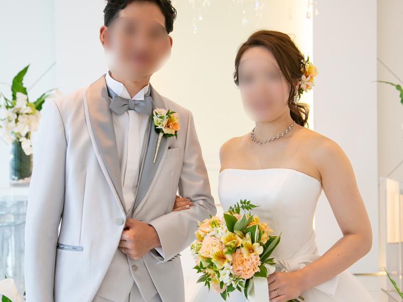 ポニーテールの花嫁髪型正面