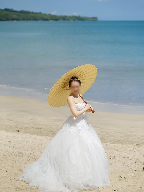 バリ島挙式のウェディングドレス姿