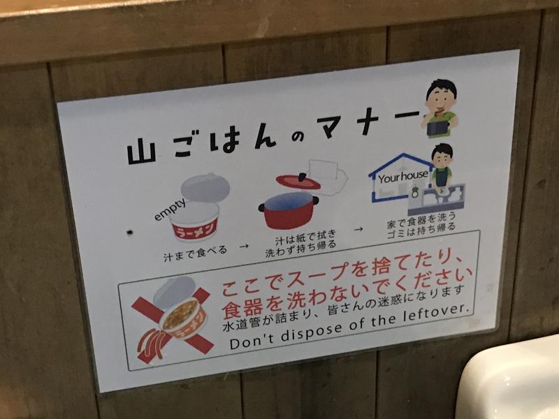 高尾山山ごはんのマナーポスター