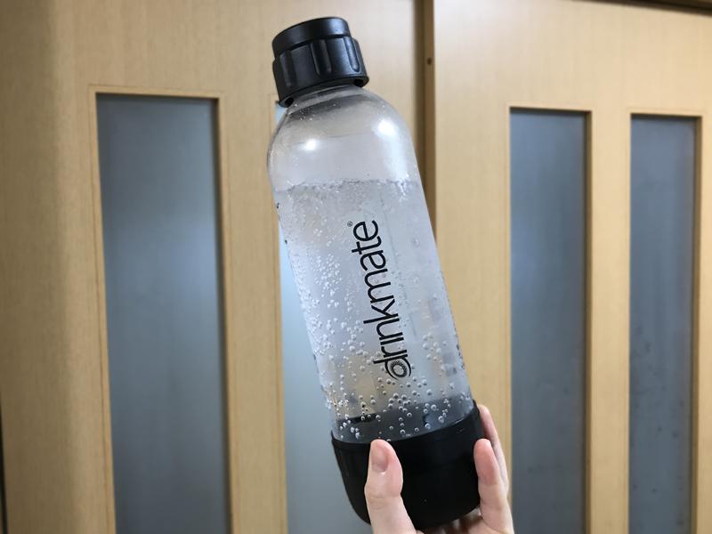 drinkmate(ドリンクメイト)炭酸水メーカーで作った炭酸水