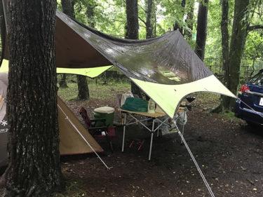 大雨キャンプ対策アイテム7選+足りなかった3選@山中湖レイクロッジヤマナカ