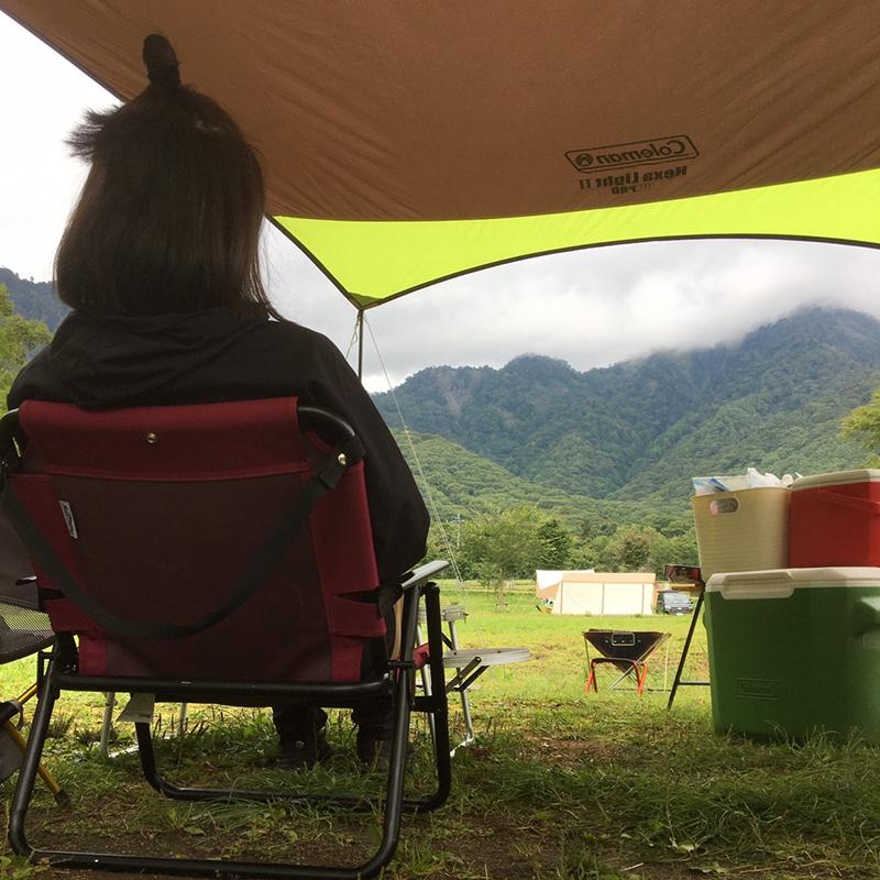 戸隠キャンプ場区画サイトからの景色