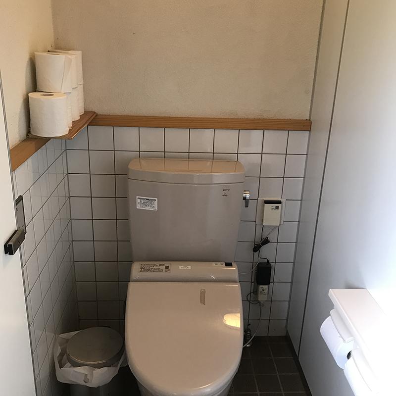 戸隠キャンプ場のトイレ
