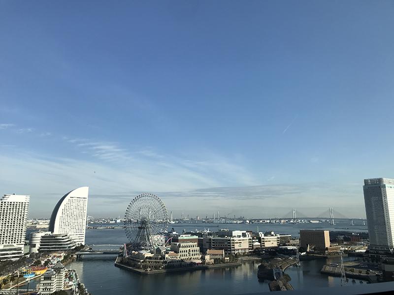 ニューオータニイン横浜プレミアム海側客室から見える景色