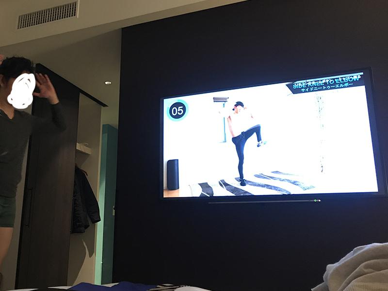ニューオータニイン横浜プレミアム海側客室のテレビ