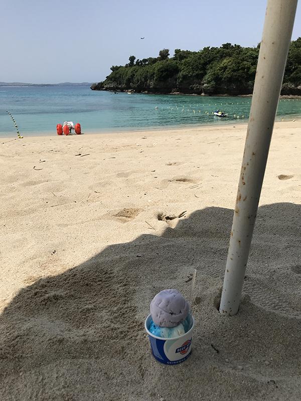 伊計ビーチで買ったブルーシール