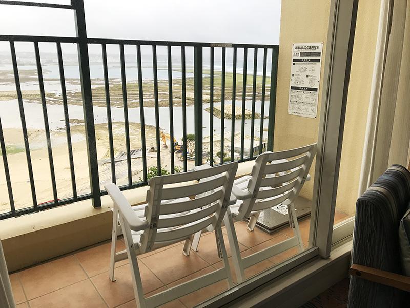 ベッセルホテルカンパーナ沖縄プレミアオーシャンビューツインのテラス