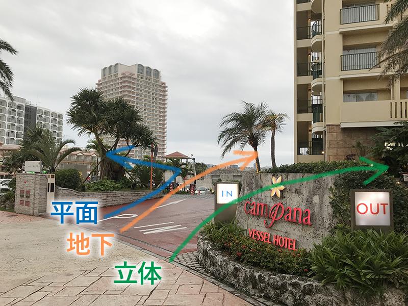 ベッセルホテルカンパーナ沖縄の駐車場