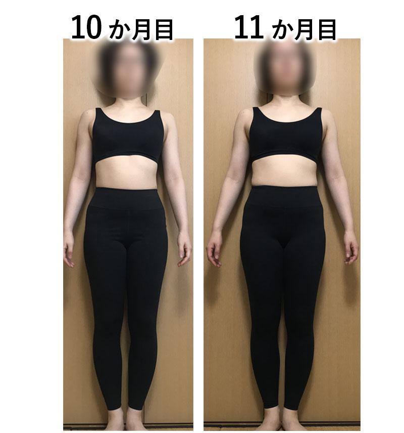 ダイエットの体型変化