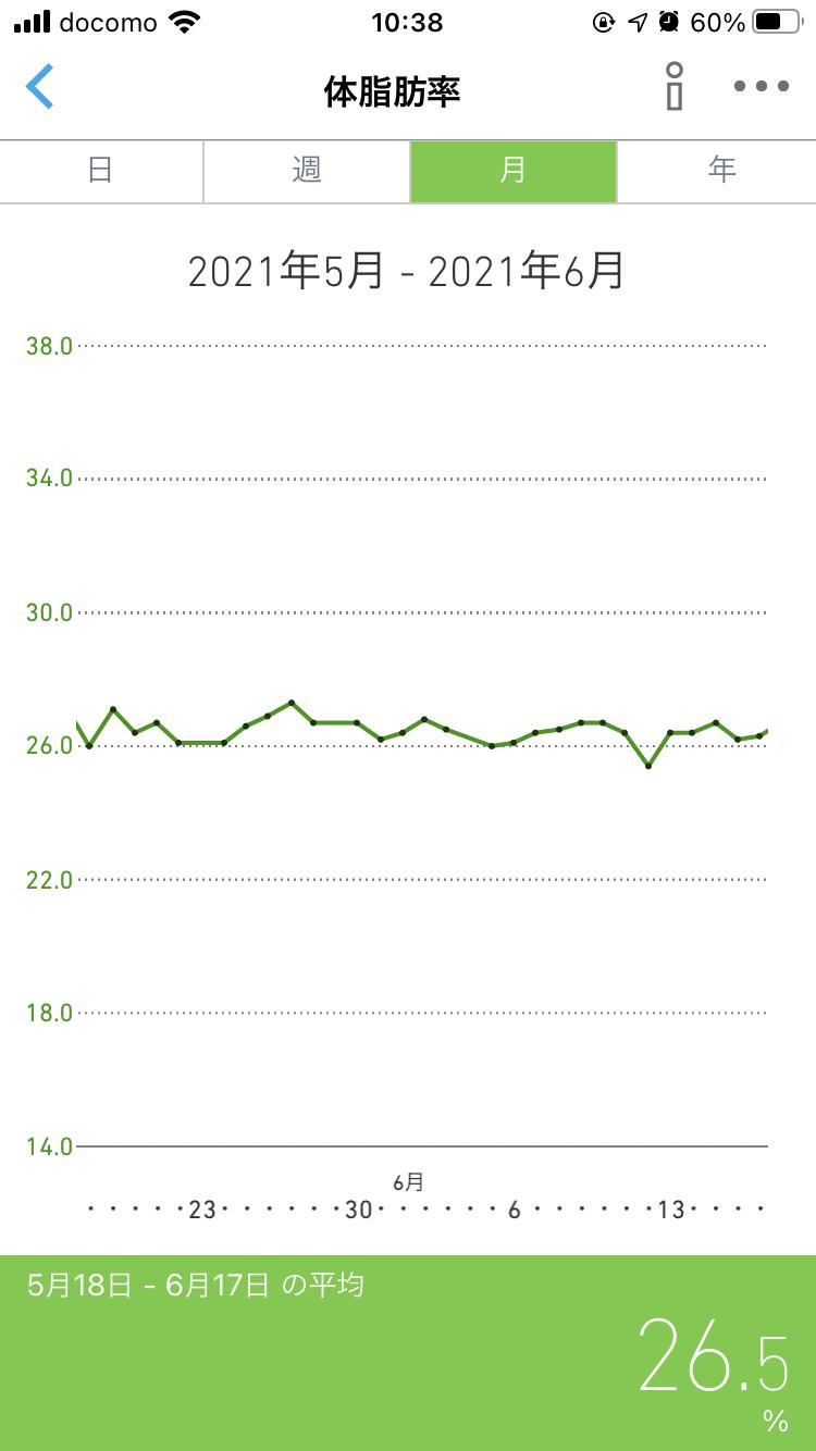 ダイエット12か月目の体脂肪率