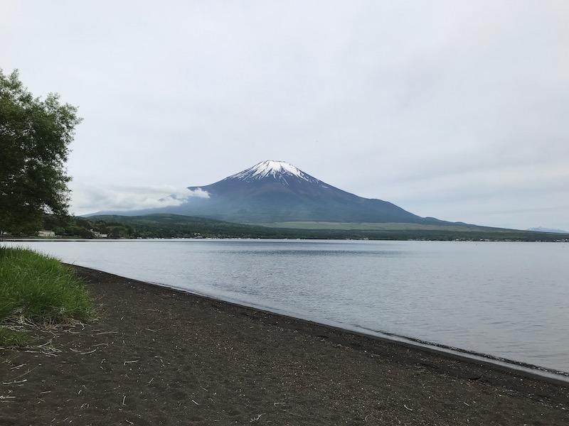 レイクロッジヤマナカからの富士山