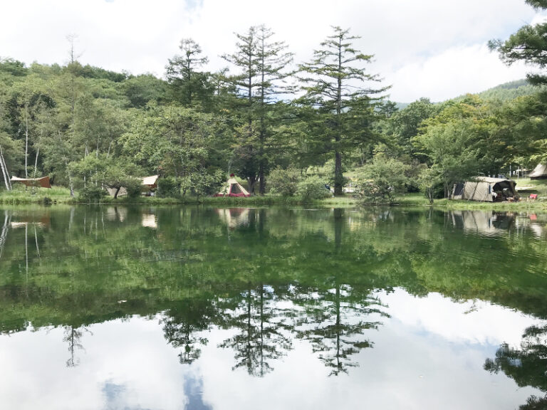 駒出池キャンプ場レイクサイド